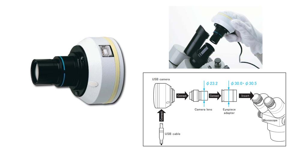 Camera lắp trên kính hiển vi