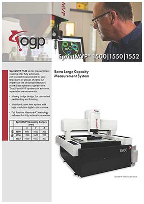 Catalog Máy đo video SprintMVP1500|1550|1552